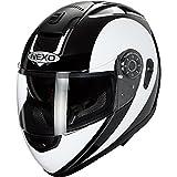 Nexo Motorradhelm, Vollvisierhelm, Integralhelm Travel, integrierte Sonnenblende, mehrfache Be- und...