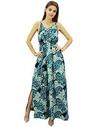 93ae22b6b584e Bimba femmes Strappy Maxi robe avec Dori Ceinture Holiday Wear Side Slit  Robes