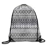 DHNKW Green Leaf Pattern Drawstring Backpack Travel Rucksack Shoulder Bags Fashion Gym Bag Sacs à dos loisir