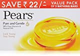 #10: Pears Pure and Gentle Soap Bar, 125g (Pack of 3, Now at Rupees 22 off)