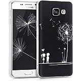 kwmobile Étui transparent pour Samsung Galaxy A3 (2016) Housse de protection en TPU silicone design IMD - cover souple pour portable Design pissenlit amour