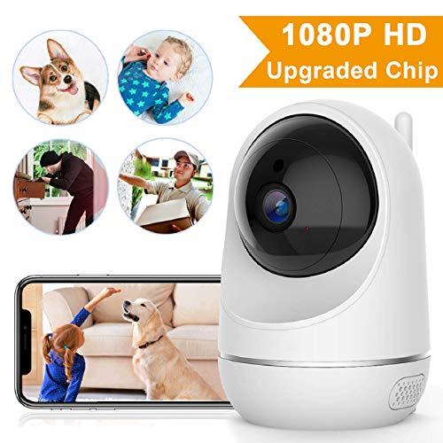 VIDEN IP-Kamera, kabellos, 1080P, FHD, WiFi-Sicherheits-Überwachungskamera/Hundekamera/Baby-Monitor mit Nachtsicht/2-Wege-Audio-Home/Bewegungserkennung für Baby/Haustier/Senioren/Hund (Sicherheits-monitor-kamera)