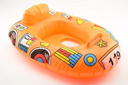 OKCS Gummiboot für Kinder Schlauchboot Pool Schwimmen Strandboot Junior Schwimmbad Badespaß - in Orange