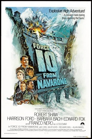 Force 10 from NAVARONE - Harrison Ford - U.S Movie Wall Poster Print - 43cm x 61cm / 17 Inches x 24 Inches A2 (Force 10 Navarone)