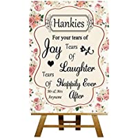 Shabby chic Hankies tessuti vintage rose Collection