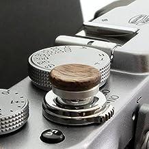 Auslöseknopf aus Aluminium/Holz - Nussbaum (konkav, 11mm) für Leica M-Serie, Fuji X100, X100S, X100T, X100F, X10, X20, X30, X-T2, X-T10, X-T20, X-Pro1, X-Pro2, X-E1, X-E2, X-E2S und die meisten Kameras mit Drahtauslöser-Gewinde, innerhalb von 24 Stunden versandbereit