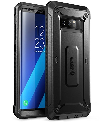 Samsung Galaxy Note 8 Schutzhülle, SUPCASE Ganzkörper-Rugged Case mit integriertem Displayschutz für Galaxy Note 8 (2017 Release), Unicorn Beetle Shield Serie - Retail Paket (schwarz/schwarz) (Cellular Us Note4 Samsung Galaxy)