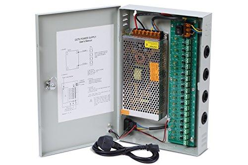 Nordstrand 18 Kanal Leistungsnetzteil für CCTV Kamera Videoüberwachung 12V DC 10A