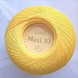 Rellana Maxi 10, Filethäkelgarn, Farbe rot und gelb, 50 g, Stärke 10 (21 gelb)