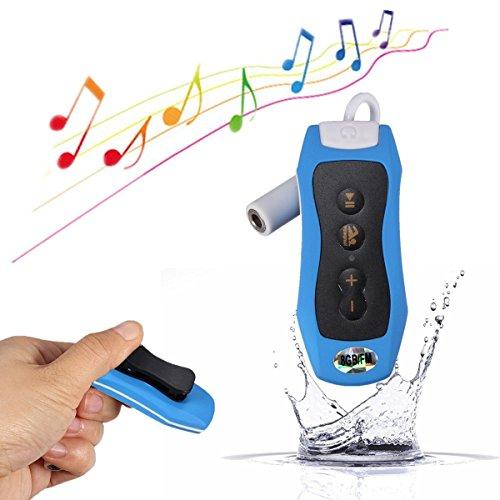 Y & M (TM) Wasserdicht MP3Player, 100% IPX88GB tragbare Unterwasser Wasserdicht MP3Musik Player mit FM Radio für Schwimmen Tauchen Sport Blau