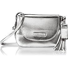 Damen Nadya Crossbody Bag Umhängetasche, Silber (Silver), 6x14,5x20 cm Tamaris