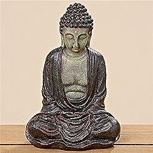 Figura de Buda sentado, orando (28cm en marrón, artículos de decoración para casa & hogar, de Buda escultura, Salón o accesorio ideal como regalo