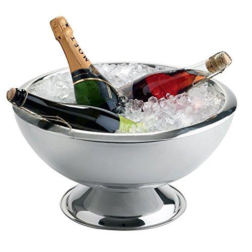 Weis Champagnerkühler doppelwandig, Edelstahl, Silber, 44 x 44 x 26 cm