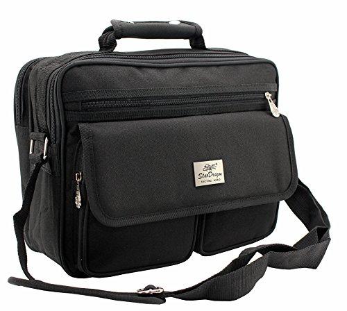 67b428194c4af Schultertasche Citybag Flugbegleiter Ausweistasche Umhängetasche Business  Messenger Bag Tasche Black