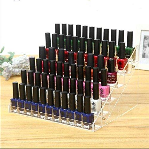 Mobengo transparente acrylic Nagellack Display Organizer mit UV Polish Nagel Gel, Make-up Flächen Aufzubewahrung (6-Schicht)