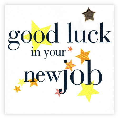 Good luck in your new job card amazon claire giles hearts and stars good luck in your new job card yellow m4hsunfo