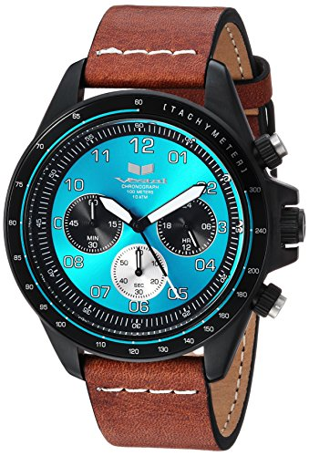 Vestal 'ZR2' Quartz Stainless Steel and Leather Casual Watch, Color:Brown (Model: ZR243L26.LBWH)