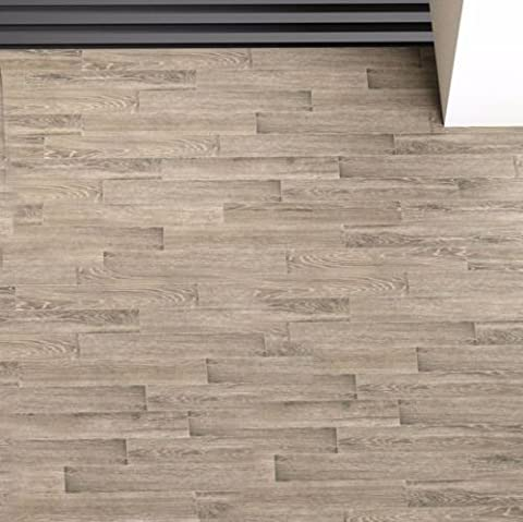 Grey Wood Effect Rustic Porcelain Matt Wall Floor Tiles Bathroom Kitchen Bedroom - 14.5 cm x 87 cm