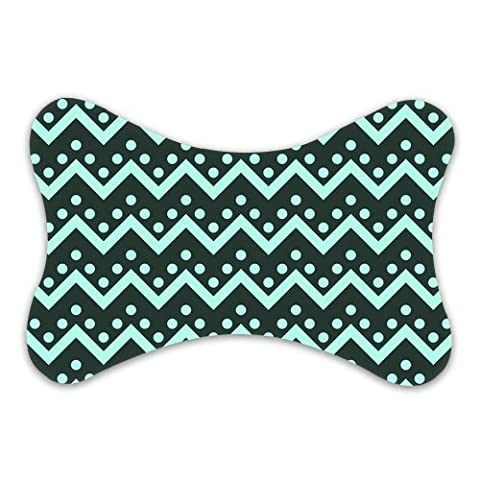 Evergreen Fashion Seamless Zigzag Pattern Custom Car-seat Neck Pillow Travel Pillow (Only One)