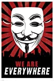 1art1 60342 V Wie Vendetta Poster - We Are Everywhere, 91 x 61 cm