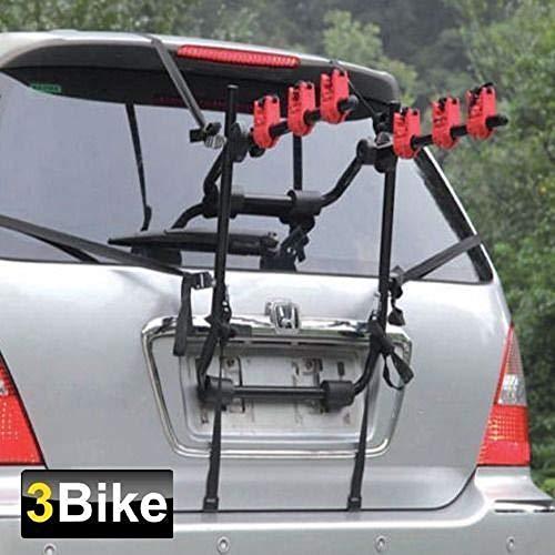 A TL Fahrradträger für 3 Fahrräder, universell passend für Schrägheck, Limousine Kombi