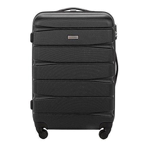 WITTCHEN Mittlerer Koffer | Farbe: Schwarz | Material: ABS | Größe: 67 x 44 x 26 cm | Gewicht: 3.8 kg | Kapazität: 62 L | Sammlung: Groove Line II | 56-3A-362-10