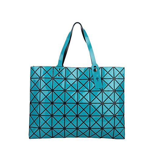 FZHLY Signore Laser Fashion Bag Geometrica Lingge Borsa,Pink Blue