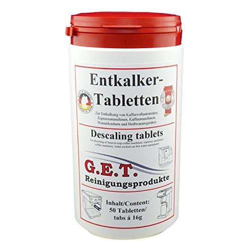 GET Spezial Entkalkertabletten für Kaffeevollautomaten und Espressomaschinen (50)