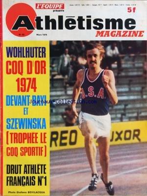 ATHLETISME MAGAZINE [No 62] du 01/03/1975