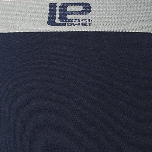 Lower East Herren Boxershorts Retro, 6er Pack Blau (Blau -OHNE STREIFEN)