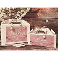Personalised Will You Be My Bridesmaid Flowergirl Maid of Honour Gift Box Rose Gold