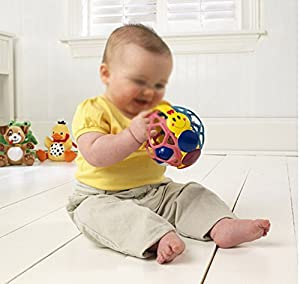 niceEshop(TM) Funny Bendy Ball Baby Walker Music Bell Infant Educational Toys (Random Color)