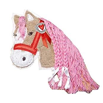 Aufnäher Pferd mit Mähne aus Wolle, C-Fashion-Design