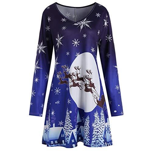 Bluelucon Damen Casual Kleid Sommer Kleid Mit Tasche Damen Kurzarm Abendkleid Partykleid Minikleid Midikleid Strandkleid Retro Vintage Elegant Rundhals Kleid Sport Kleid
