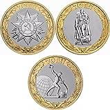 TACC Sammlermünzen Cent Gedenk Ausländische Münzen / Souvenir-Medaille der 70. Jahrestag 3 Russlands Sieg