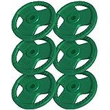 GORILLA SPORTS® Hantelscheiben-Set 30 kg Gummi Gripper – 6 x 5 kg Gewichte mit 30/31 mm Bohrung