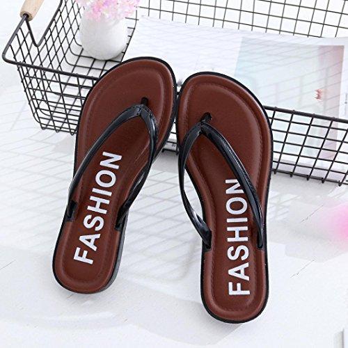 Sandales, Malloom Femmes ÉTé Appartement Des Sandales Zapatillas Loisirs Doux Flip Flops Pantoufle De Plage Noir