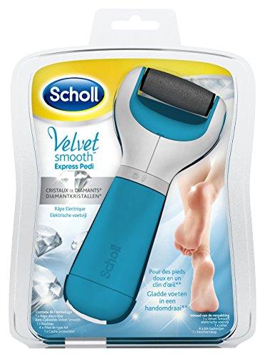 Scholl - Velvet Smooth Express Pedi Rape Electrique Bleue Aux Cristaux de Diamant
