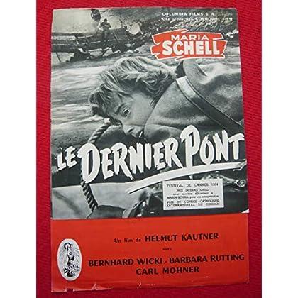 Dossier de presse de Le Dernier Pont (1954) – 24x35 cm, 4 p – Film de Helmut Kautner avec M Schell, B Wicki – Photos N&B - résumé scénario – Bas fatigué