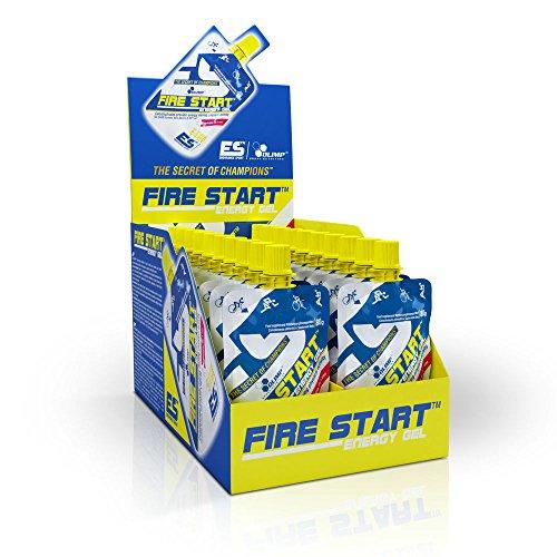 Olimp Fire Start Energygel - Kohlenhydrate, Geschmack Kirsche, 1er Pack (1 x 20 Stück) (2 Stück Sehr Kirsche)