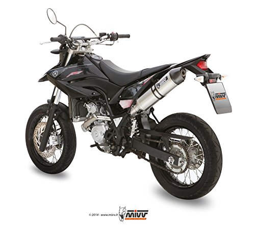 MIVV-Auspuff YAMAHA WR 125 R/X Bj.ab 2009 (OVAL,Edelstahl / Carbon-cap,Motorrad) - 2