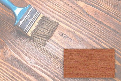 BEKATEQ 2,5L Holzlasur farbig aussen innen für Möbel Gartenhaus | UV-stabil - atmungsaktiv (Kastanie)