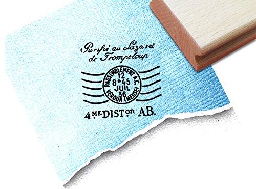 Stempel - Vintage Poststempel FRANCE I im Shabby chic style - Eleganter Bildstempel mit altem französischen Postzeichen - Motivstempel von zAcheR-fineT