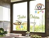 Klebefieber Fenstersticker Eulen wünsche Frohe Ostern B x H: 40cm x 24cm