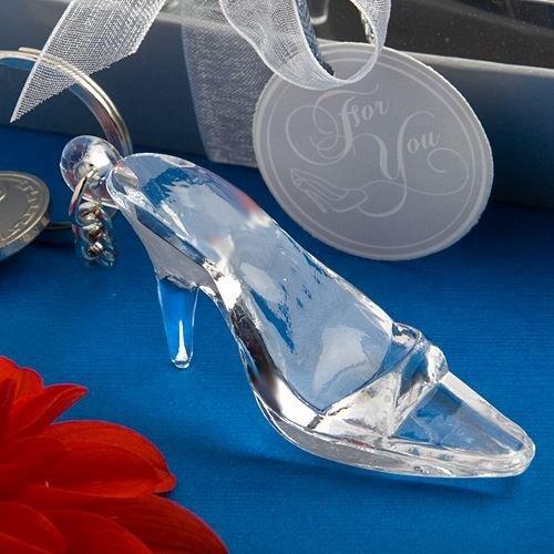 6 X Cinderella Glass Slipper Keyring Schlüsselanhänger Hochzeit & Party Bag Filler (Glas Schuhe Cinderella)