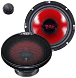 Mac Audio APM Fire 2.16 - Altavoces de coche (sistema de componentes de 2 vías, rango de frecuencia de 45 - 20000 Hz) rojo