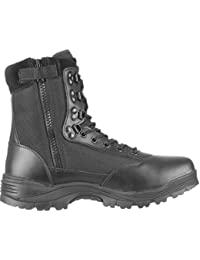 Mil-Tec Tactical Side Zip Botas Negro tamaño 10 UK / 11 US