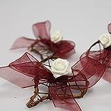 Rattanherzen als Streudeko für die Tischdeko bei der Hochzeit, Weihnachten, romantische Deko Herzen für Valentinstag, Heiratsantrag, 20 Stck. - 5