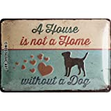 Nostalgic-Art 22269 PfotenSchild - A House is not a Home, Blechschild 20x30 cm