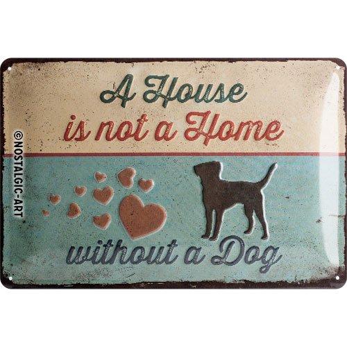 Nostalgic-Art 22269, Cartel de huellas–A house IS NOT a Home, Cartel de chapa 20x 30cm